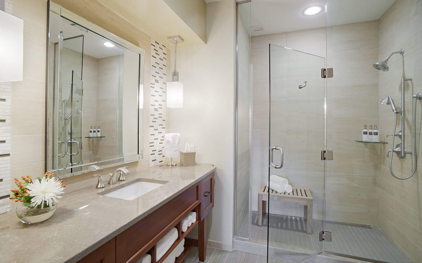 Rizzo Conference Center Guest Bathroom with Large Shower