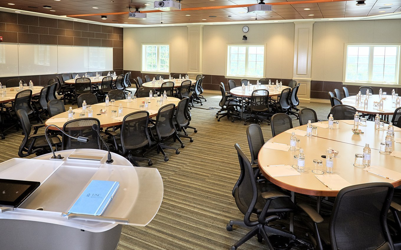 Rizzo Conference Center Classroom Adapted into Dining Area