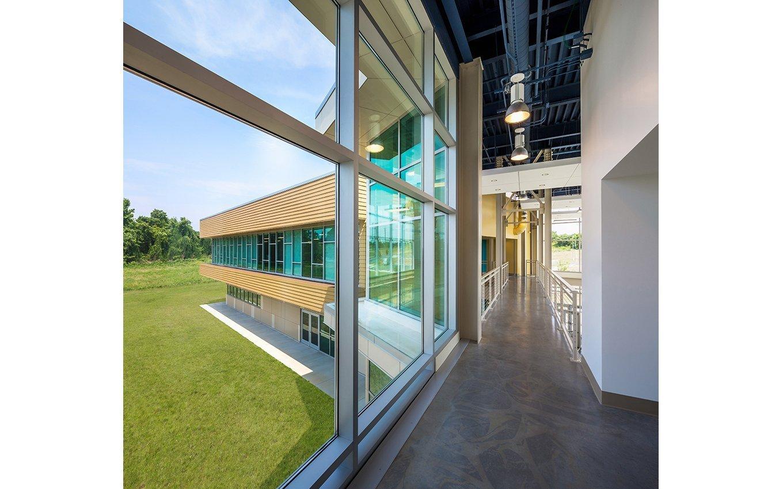 The Center for Design Innovation (CDI) Hallway, one wall floor-ceiling windows