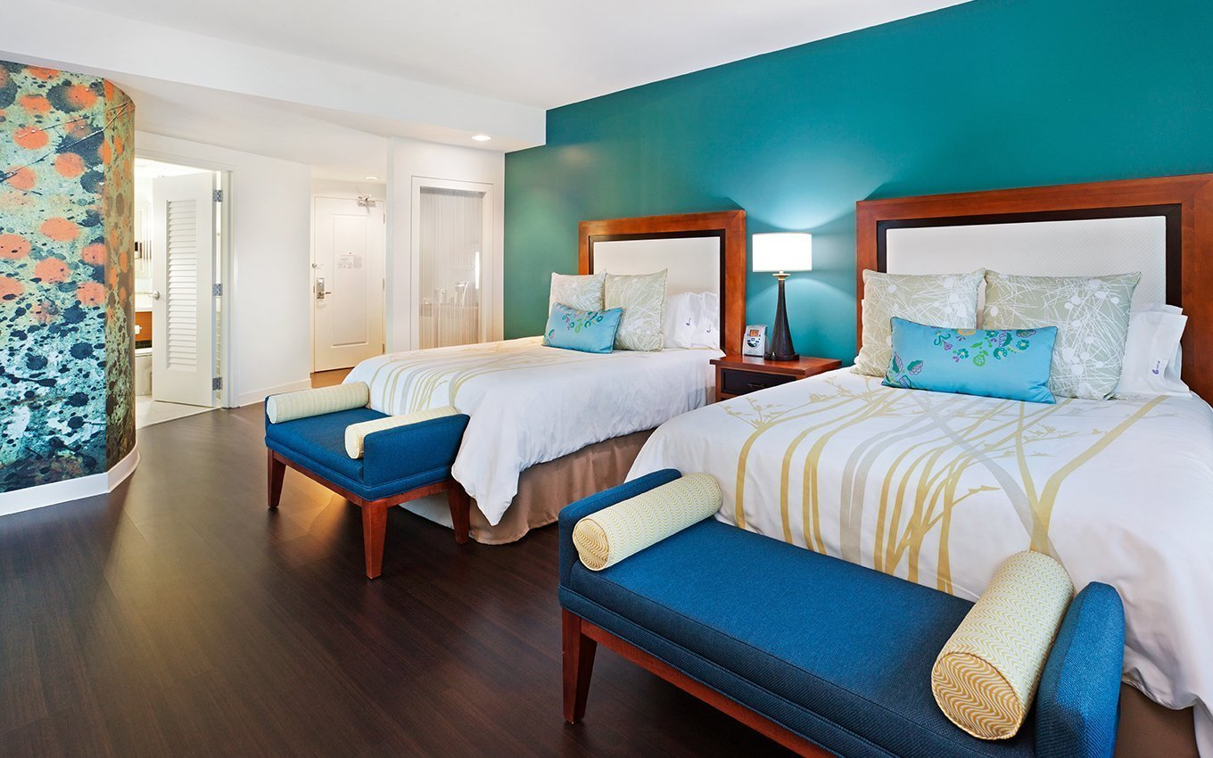 Hotel Indigo Asheville Guest Room with double beds