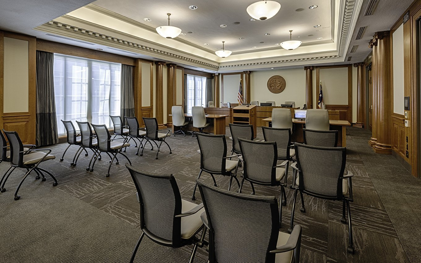 NC State Bar Headquarters Courtroom