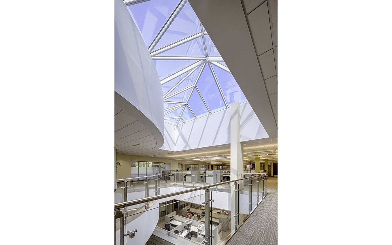 NC State Bar Headquarters skylight and open floor area