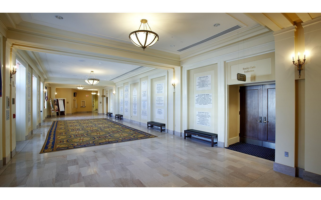 University of NC Memorial Hall lobby