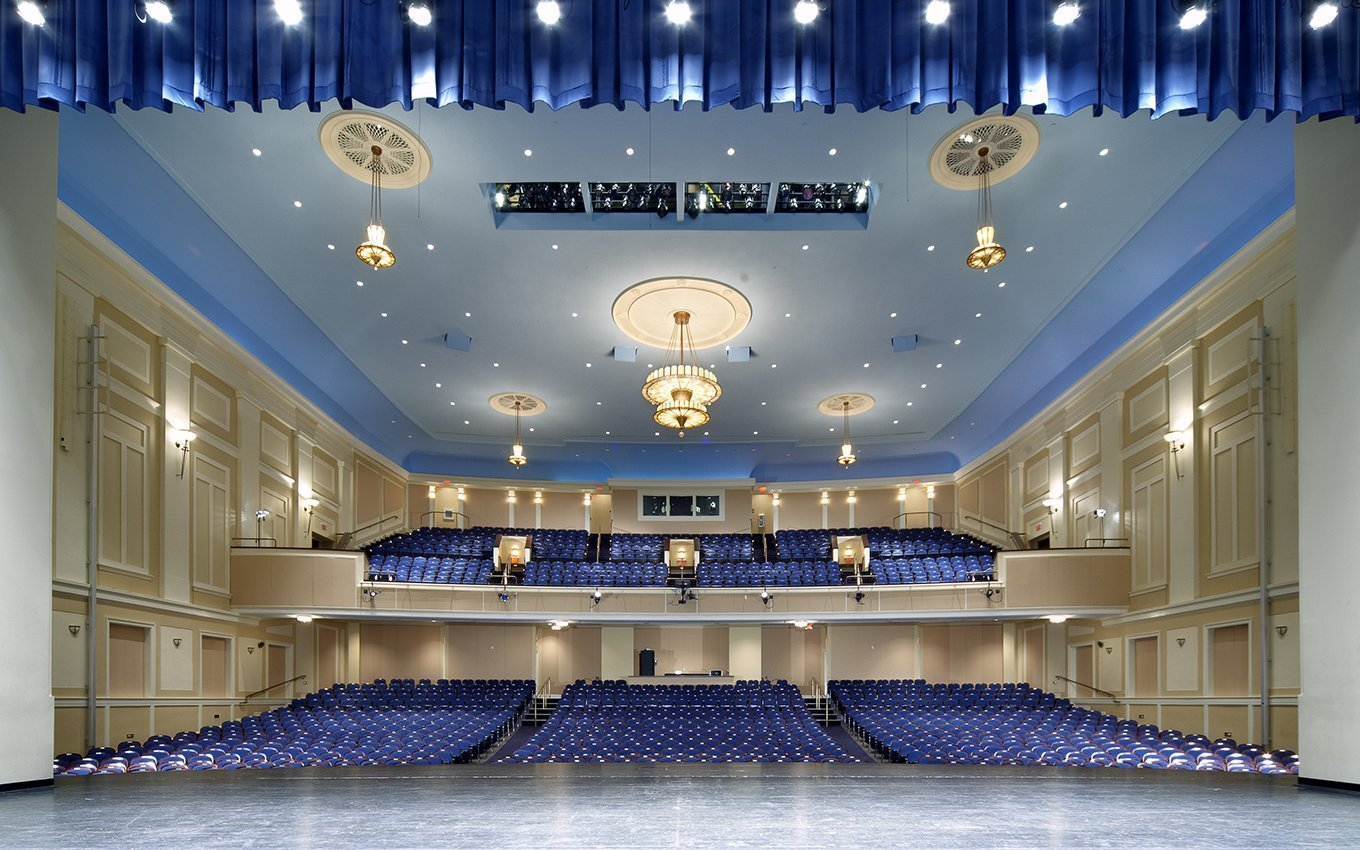 University of NC Memorial Hall view from stage to seats