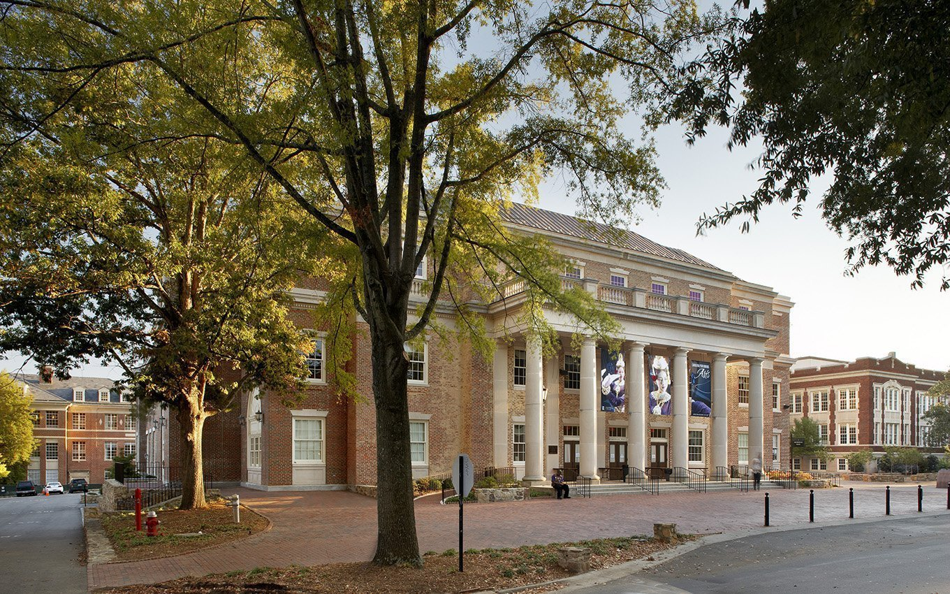 University of NC Memorial Hall entrance exterior view