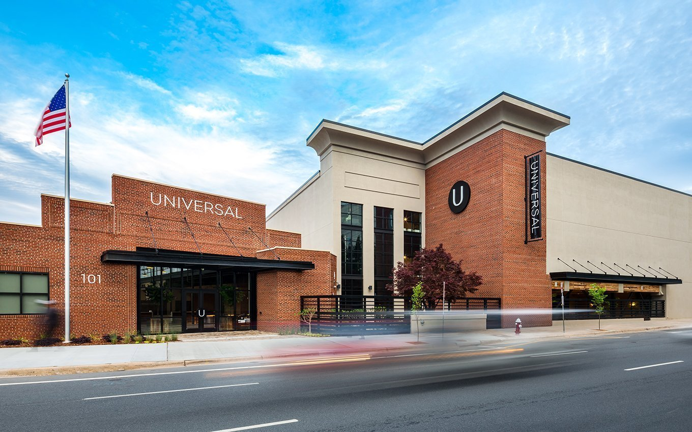 Universal Furniture Exterior and Entrance view from the street