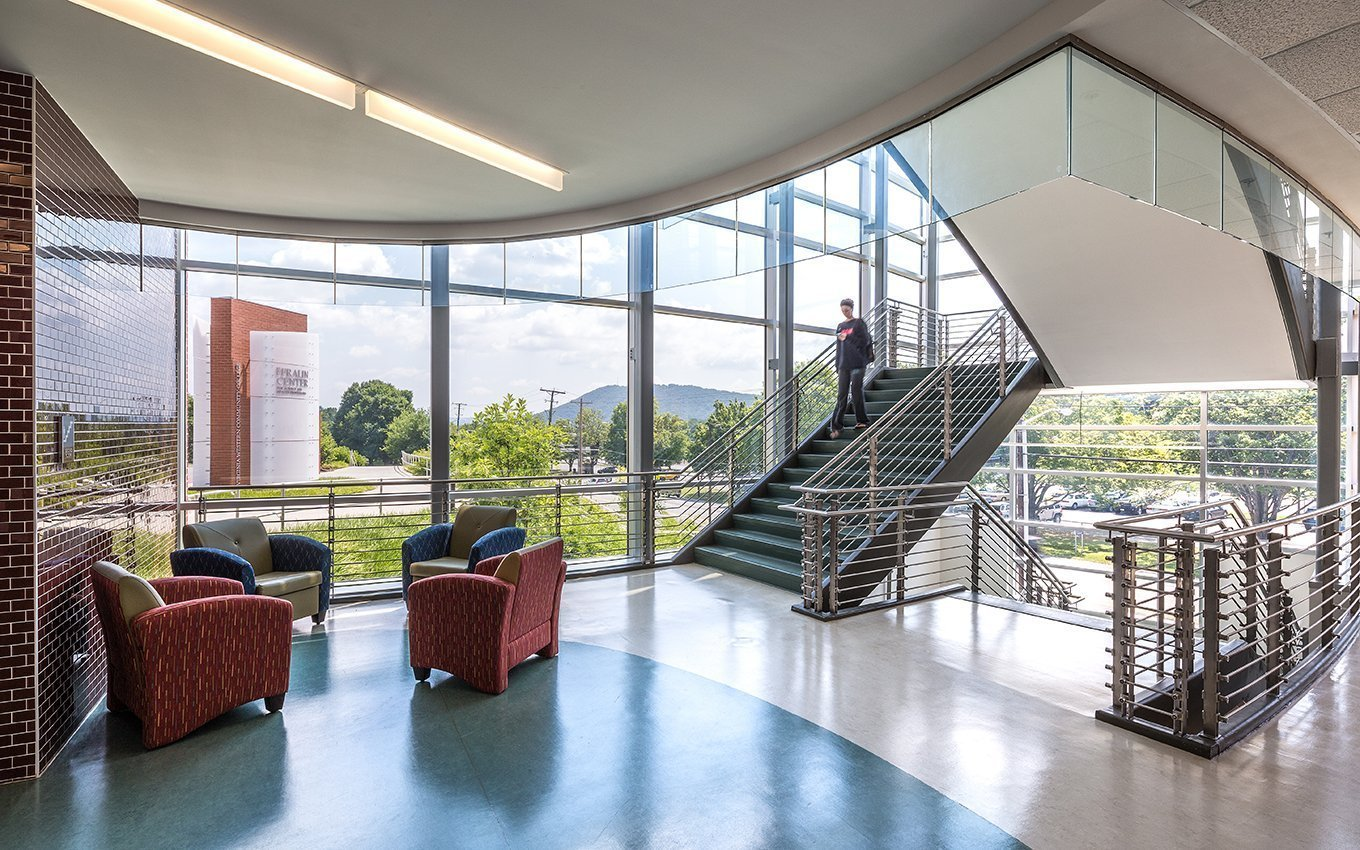 VWCC Fralin Center Interior and stairs