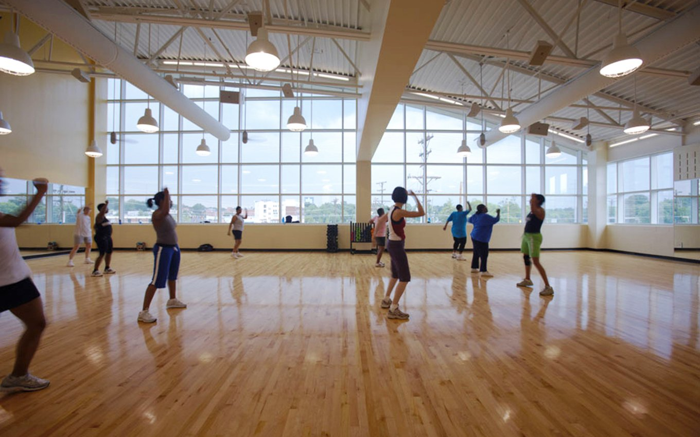 Gateway YWCA Group Exercise Room