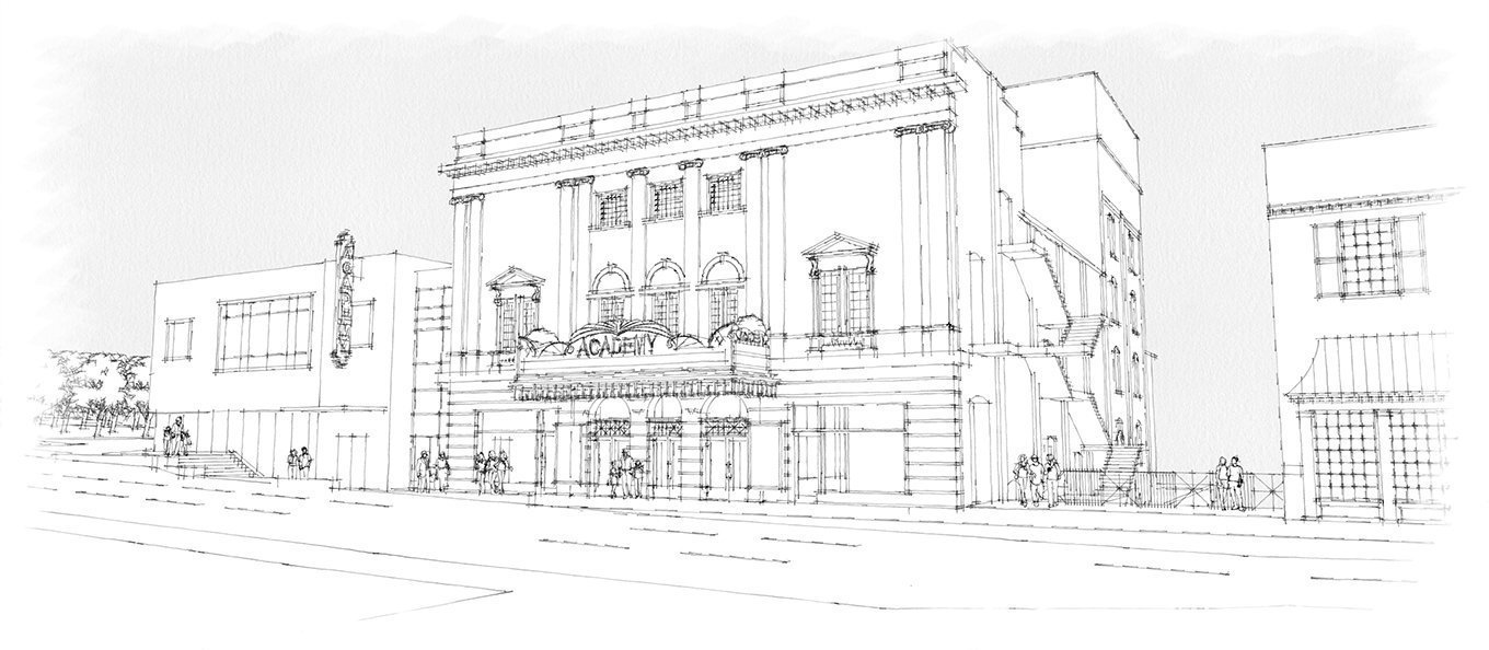 Academy Center of the Arts street view rendering