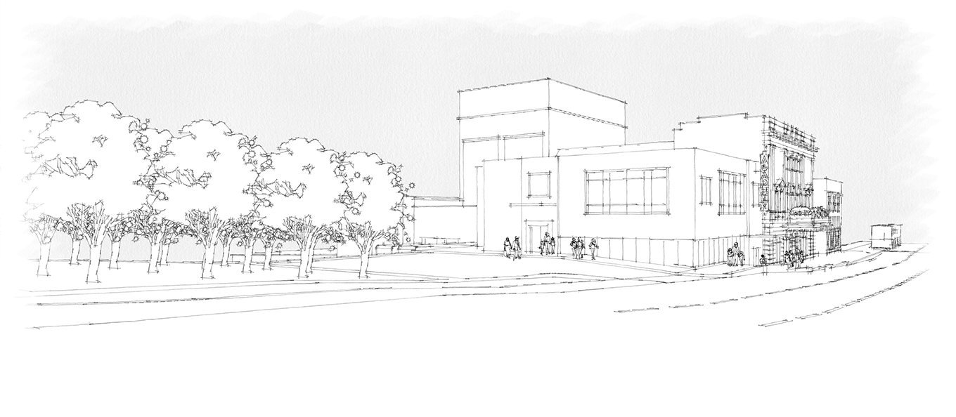 Academy Center of the Arts West Lobby rendering