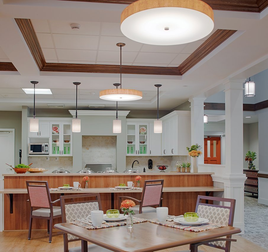 Aldersgate Asbury Center kitchen and dining