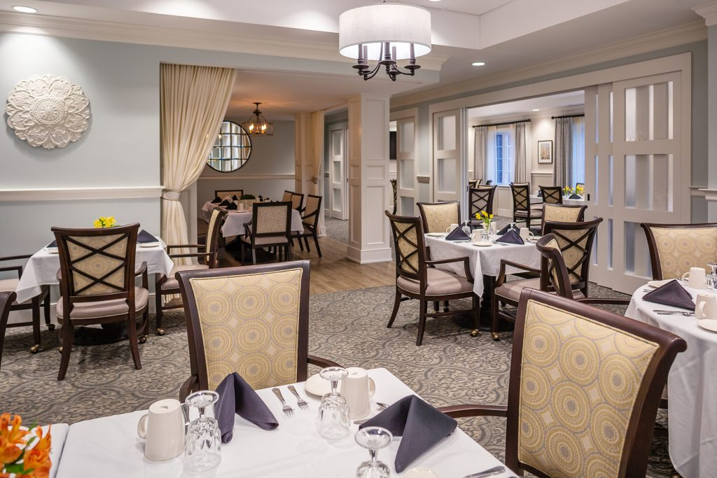 The Village At Brookwood dining room narrower