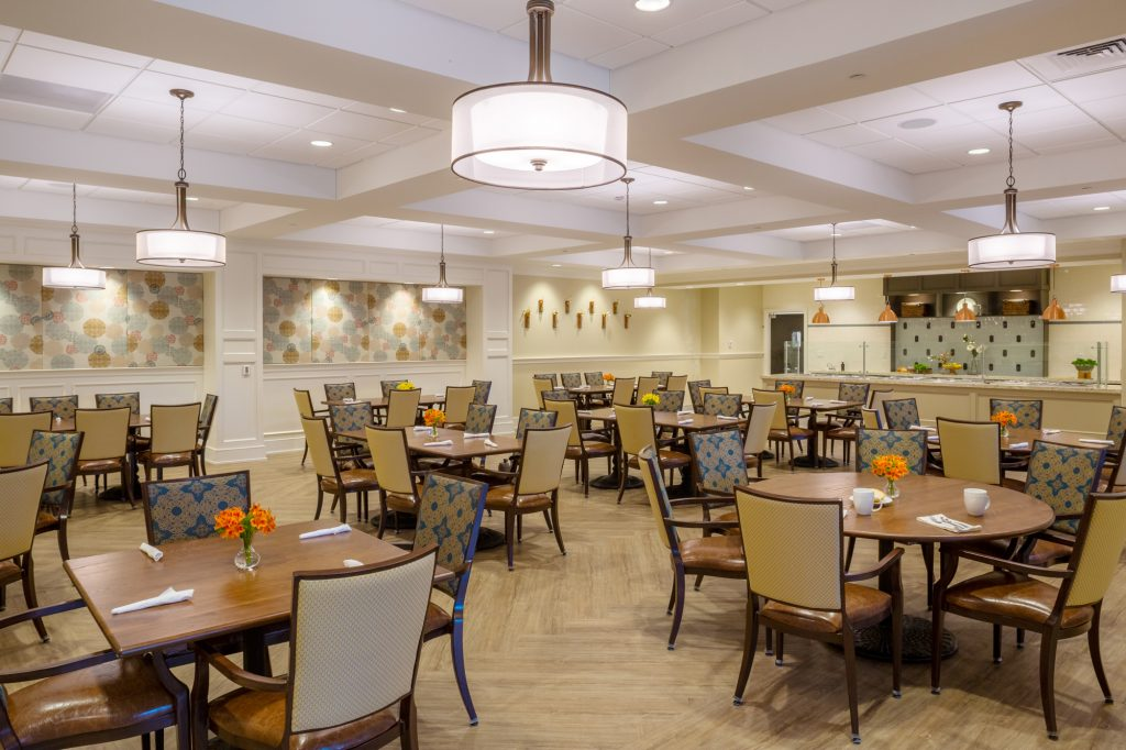The Village at Brookwood dining room wide