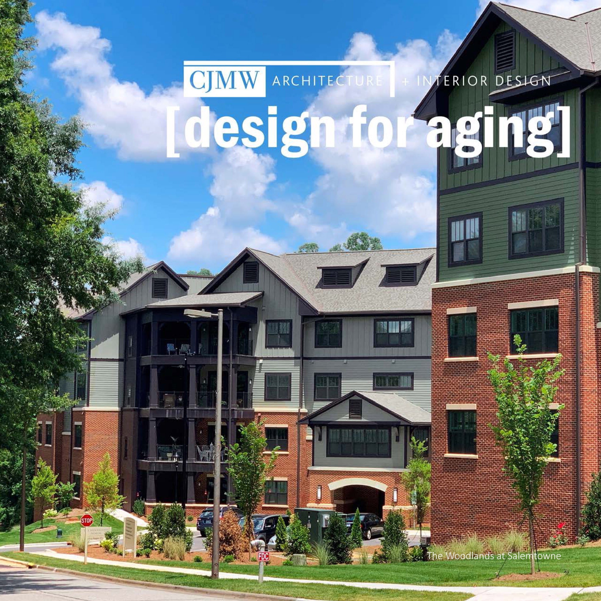 cover of senior living design brochure showing Woodlands at Salemtowne